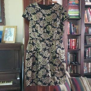 Cynthia Steffe Gold Floral Dress
